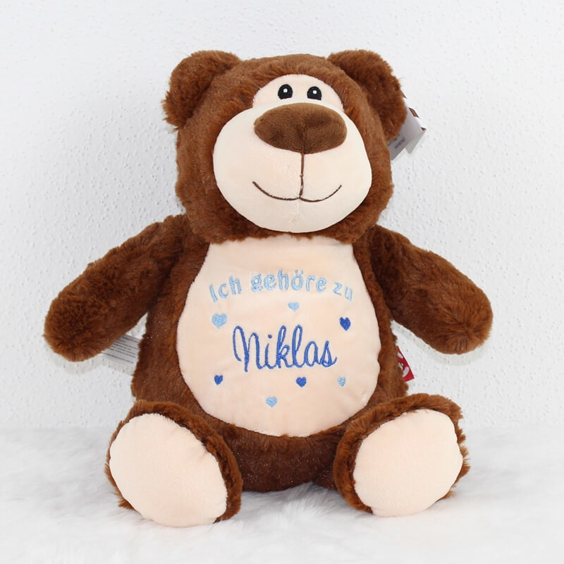 Kala ricamato nome marrone con orso peluche Mia di Orsetto bf6yvY7g