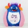Monster blau Stofftier mit Namen