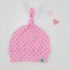 Knotenmütze rosa/pink Tupfen Gr. Newborn (35-38cm)