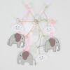 Mobile Elefanten rosa