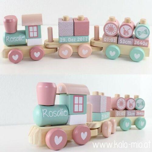 Little Dutch Zug rosa mit Geburtsdaten