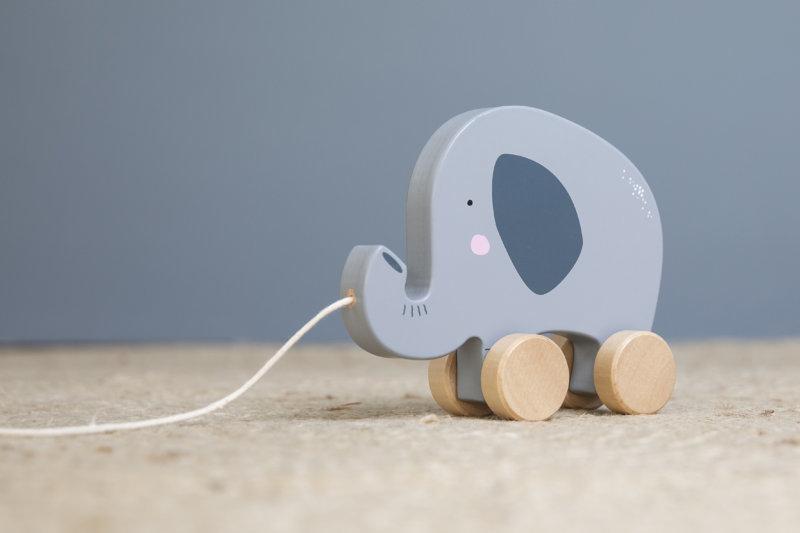 Holz Nachziehtier Elefant | Stofftiger Jetzt Holzspielzeug